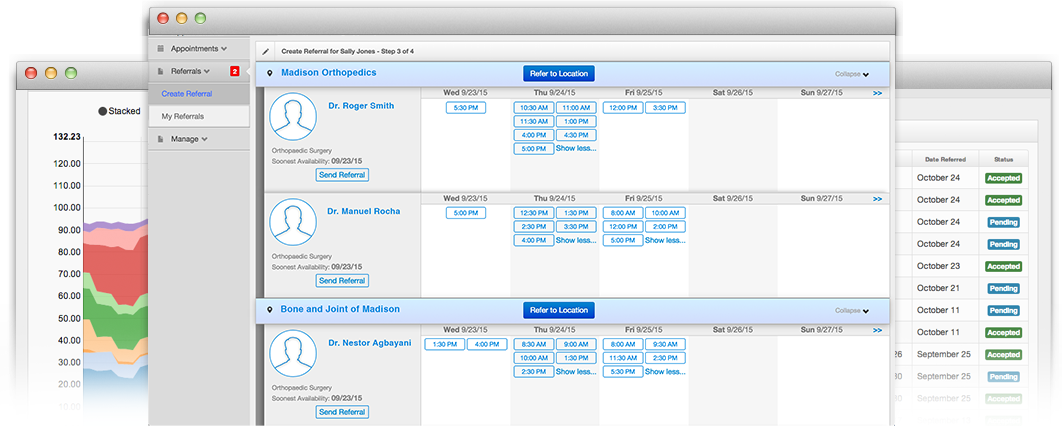 referral creation screenshot